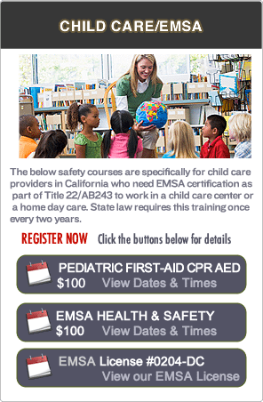 San Ramon Pediatric First-aid CPR Classes
