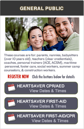 CPR Certification classes in San Ramon Area